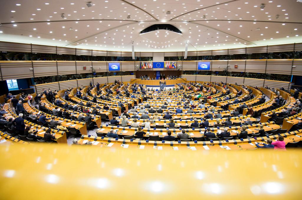 Sesión plenaria no Parlamento Europeo en febreiro de 2017