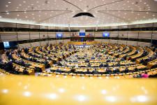Sesión plenaria en el Parlamento Europeo en febrero de 2017
